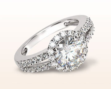 split shank halo engagement rings diamond
