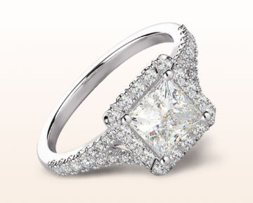 split shank halo engagement rings princess