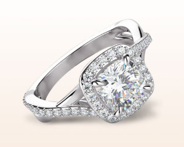 split shank halo engagement rings swaying
