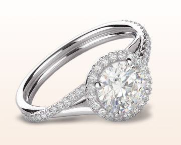 split shank halo engagement rings twisting