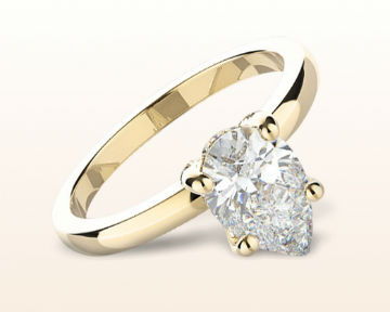 yellow gold pear shaped engagement rings diamond basket solitaire