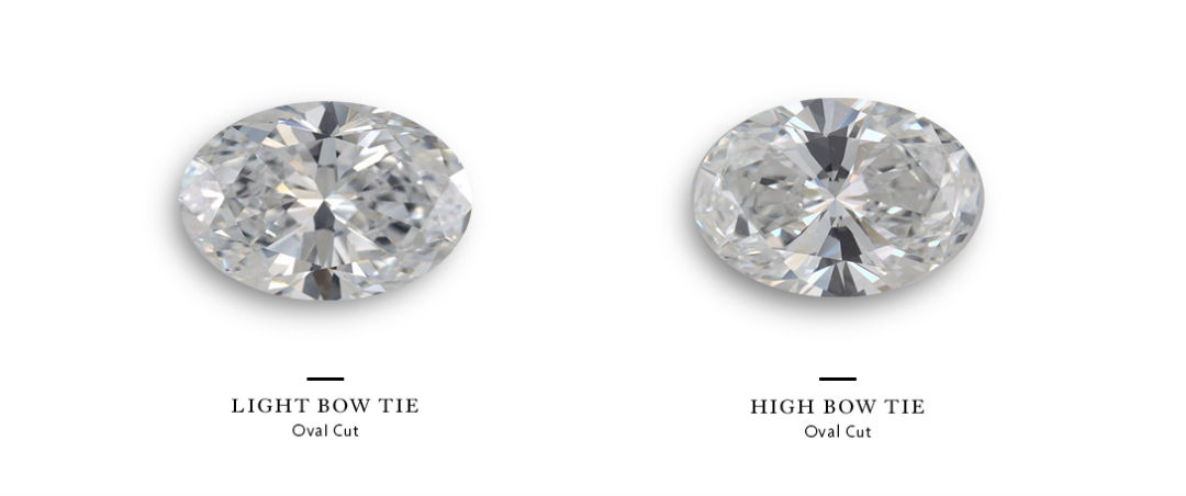 bow tie effect concern for oval halo engagement rings