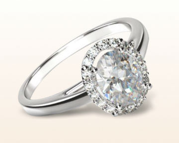 oval halo engagement rings plain shank