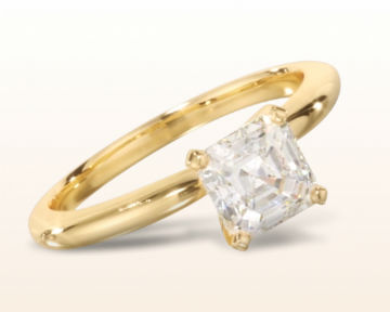yellow gold engagement rings four prong solitaire