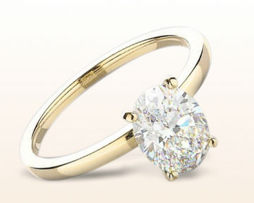yellow gold engagement rings petite solitaire