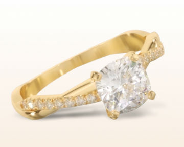 yellow gold engagement rings vine diamond