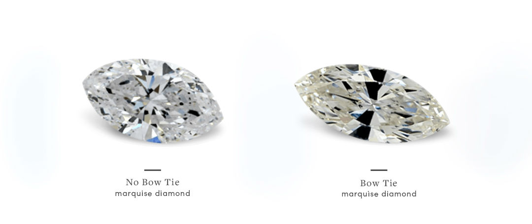 marquise diamonds and bow tie effect comparison