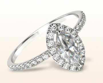 marquise halo engagement rings pave