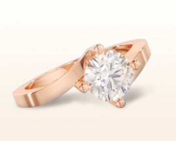 bypass engagement rings chic east west solitaire