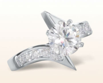 bypass engagement rings floating twist