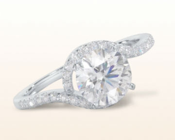 bypass engagement rings tapered halo