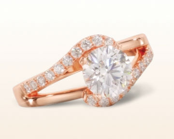 bypass engagement rings two tone split shank