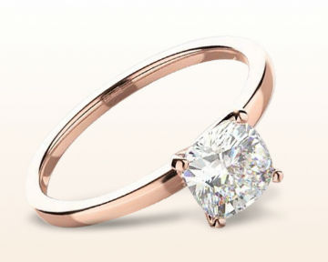 rose gold cushion cut engagement rings petite solitaire