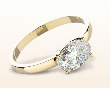 yellow gold oval engagement rings classic four prong east west