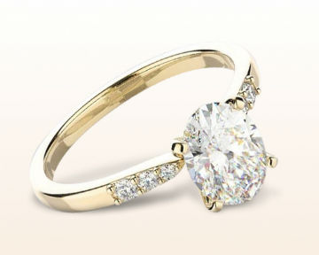 yellow gold oval engagement rings enchant