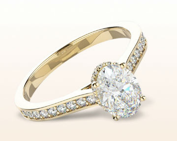 yellow gold oval engagement rings gallery halo