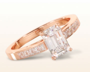 rose gold emerald cut engagement rings princess channel