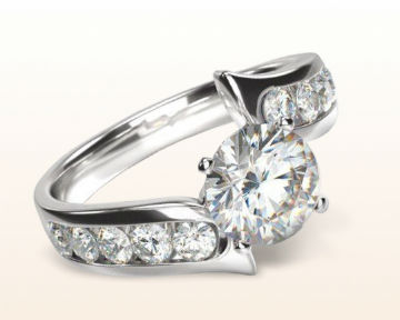 floating diamond engagement rings float twist