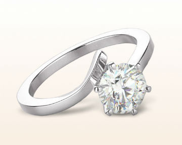 floating diamond engagement rings flourish solitaire