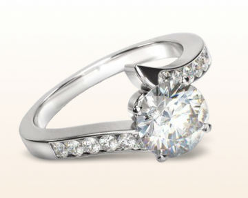floating diamond engagement rings tapered