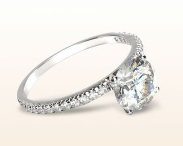 simple engagement rings french cut pave
