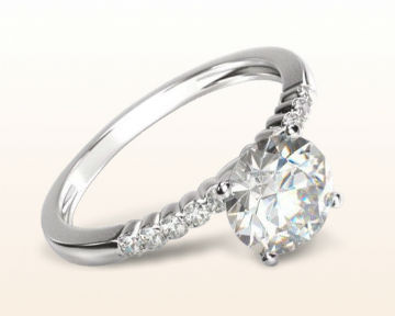 simple engagement rings ridged pave