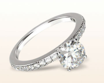 simple engagement rings side stone