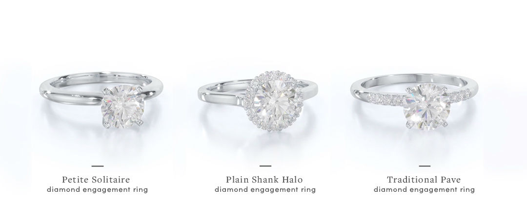simple engagement rings different styles
