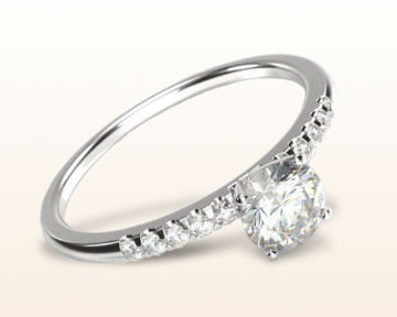simple engagement rings traditional pave