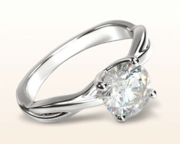 simple engagement rings twisting solitaire