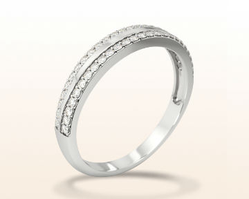 popular engagement rings pave edged wedding band