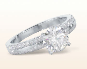 popular engagement rings pave edged