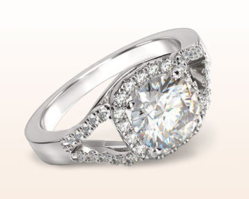 popular engagement rings split shank squarish halo
