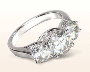 popular engagement rings three stone trellis