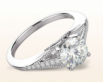 Vintage Style Engagement Rings Classic Rising Diamond