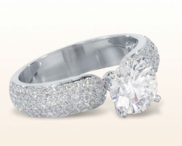 Pave Micropave Diamond Engagement Rings