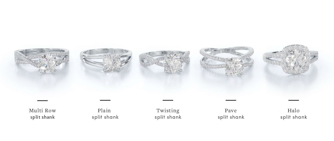 split shank engagement rings in range of styles