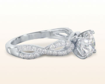 cathedral engagement rings braided