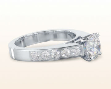 cathedral engagement rings channel set