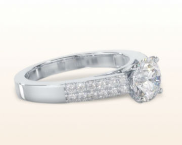 cathedral engagement rings double row