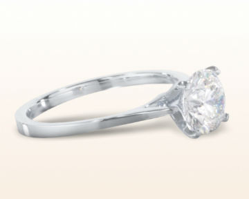 cathedral engagement rings sleek solitaire