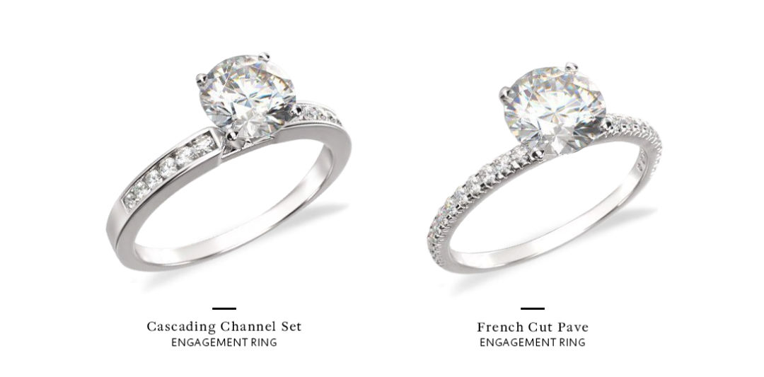 channel set engagement ring comparison 1