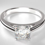 solitaire engagement rings cushion cut diamond