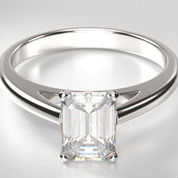 solitaire engagement rings emerald cut diamond