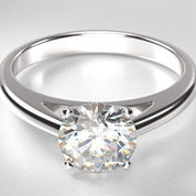 solitaire engagement rings round diamond
