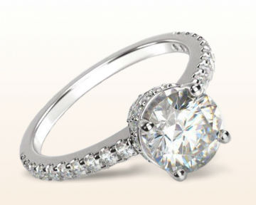 high setting engagement rings crown diamond
