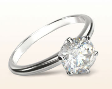high setting engagement rings luminous six prong solitaire