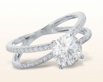 high setting engagement rings Split Shank Pave