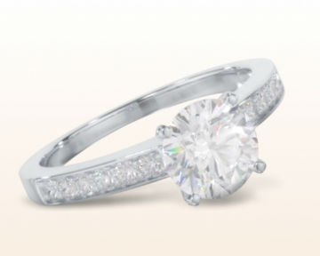 low setting engagement rings Graduated Pave