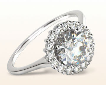 low set engagement rings Plain Shank Halo